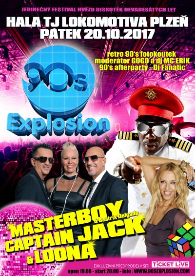 Koncert - 90´s Explosion, MASTERBOY, CAPTIAN JACK a LOONA