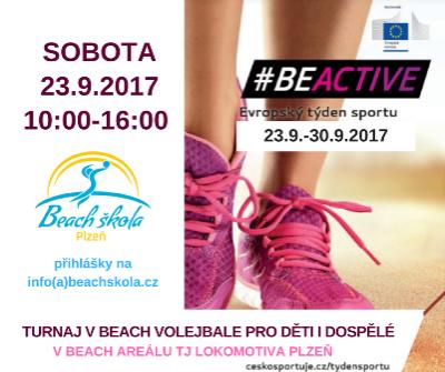 Beach škola Vás zve na beachvolejbalový turnaj v rámci Evropského týdne sportu