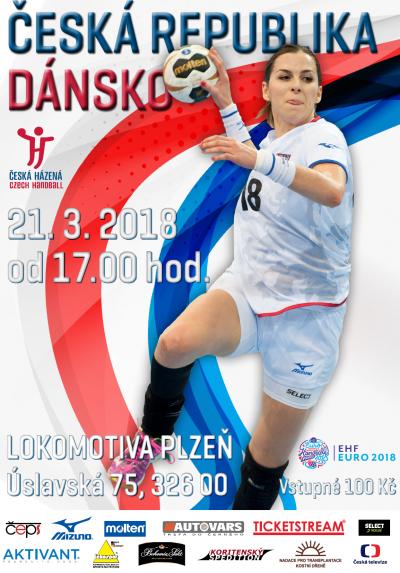 Kvalifikace o EURO 2018, házená žen - Česko - Dánsko
