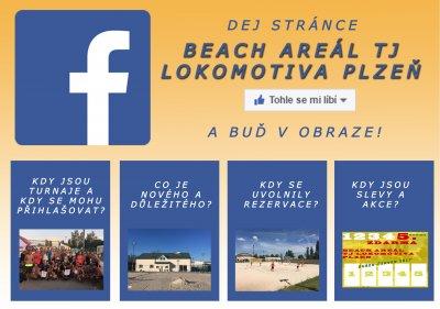 Sledujte Beach areál na Facebooku!