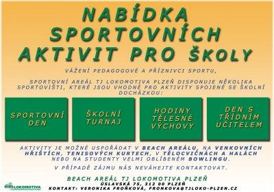 Nabídka sportovních aktivit pro školy